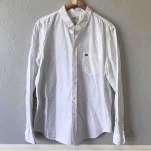 Lacoste White Long Sleeve Button Down Shirt